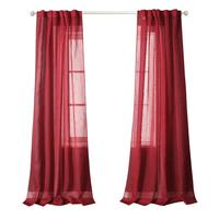 check MRP of red curtains sheer