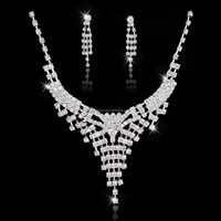 indian silver jewelry set dubai silver rhinestone jewellery set