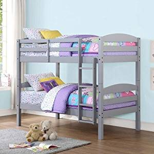 Best Price Mainstays Hot Twin over Twin Wood Bunk Bed Amazing Multiple Finishes Adapted Beautiful Comfortable Cool Nice Cheap Not Expensive Adjustable Kids Young Two Beds Convert Wood Small Badrooms Available