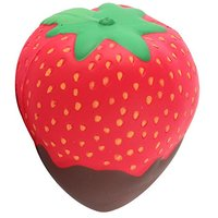 2018 Promotional jumbo PU foam big Strawberry Kawaii Jumbo Squishy Slow Rising toy for kids