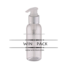 150ml clear round shape lotion bottle with dispenser