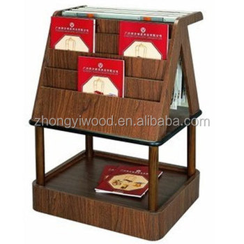 Portable Wooden Magazine Rack Stand