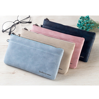 Vintage Baellerry wallet European & American men's casual Ultra-thin long purse for young people