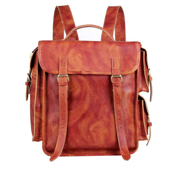 1288fc29a3 Get Quotations · 7238B JMD New Arrival Multi-function Vintage Genuine  Leather Camping Backpacks Bag