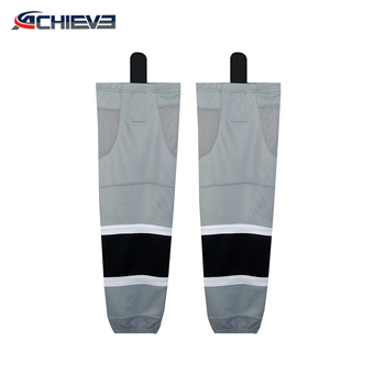 sublimation custom boys tube socks, boys white hockey socks