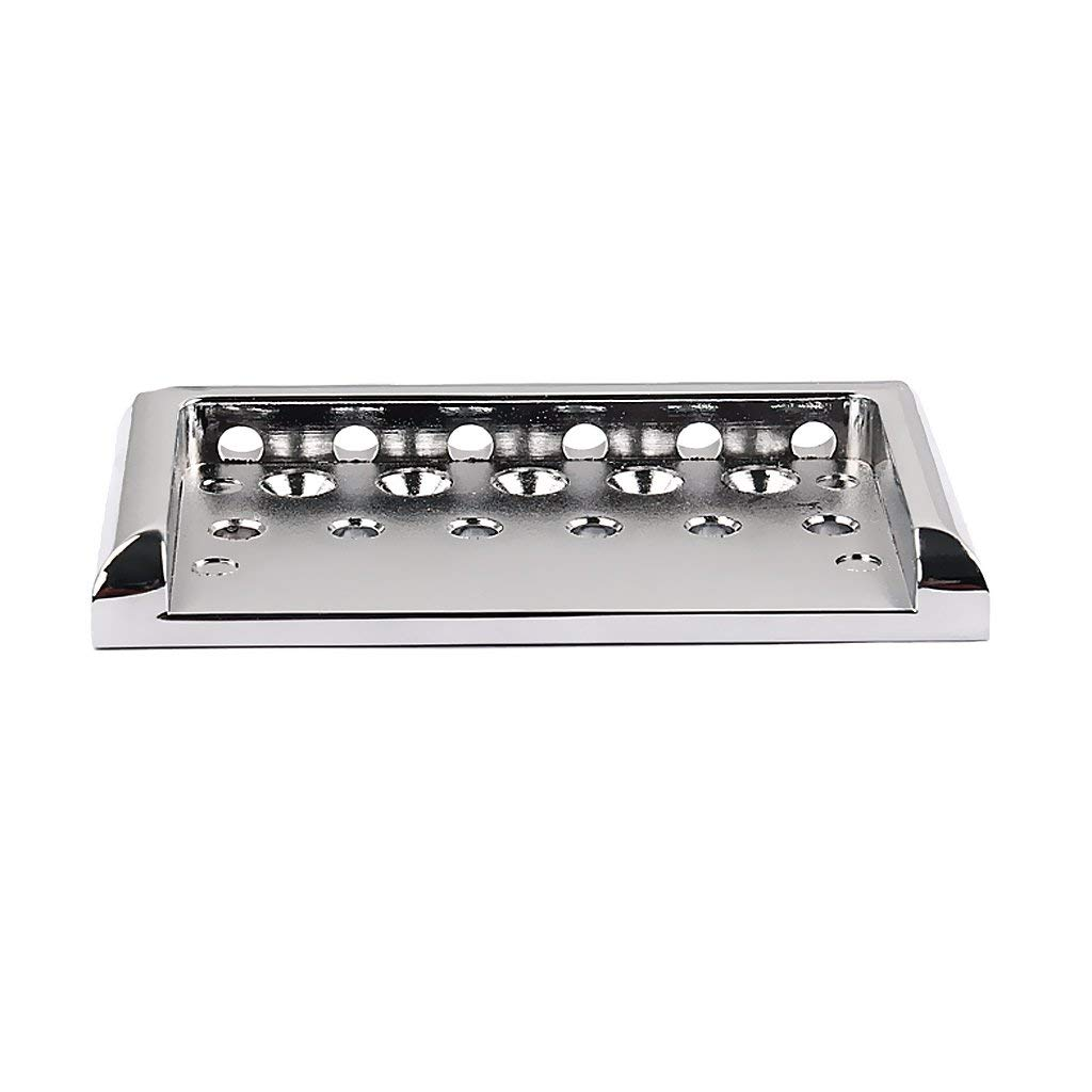MagiDeal Chrome 6 String Fixed Hardtail Bridge for Electric Guitar Replacement Parts