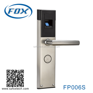 FOX Professional cheap fingerprint door lock with mechanic key, fingerprint and card function