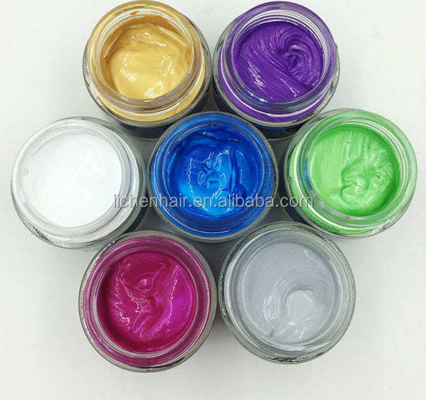 Fashion Hair Color Wax Strong Hold Styling hair color clay kids clay