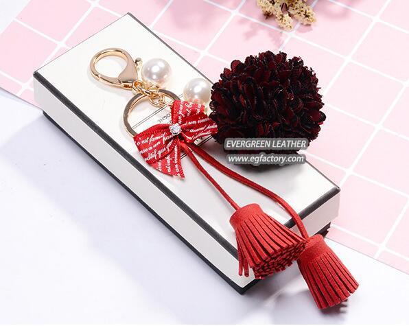 Fashion decoration flower accessories key chain cheap price FT072