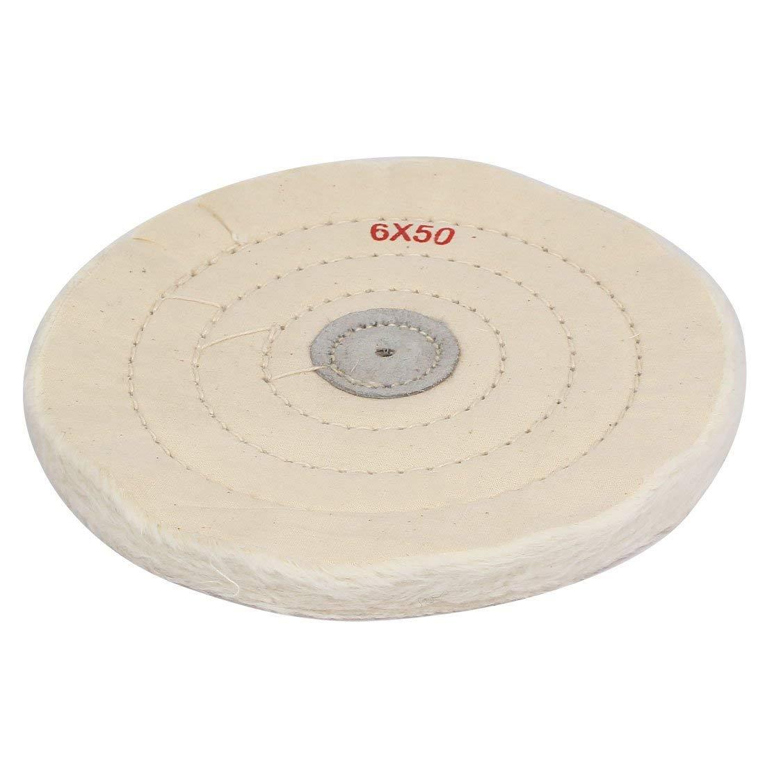 Haobase 8 Inch Buffing Polishing Wheel 1//2 Inch Arbor Buffer Polish White Round Wheel 50 Play Cleaning Cloth Buffing Wheel Tool