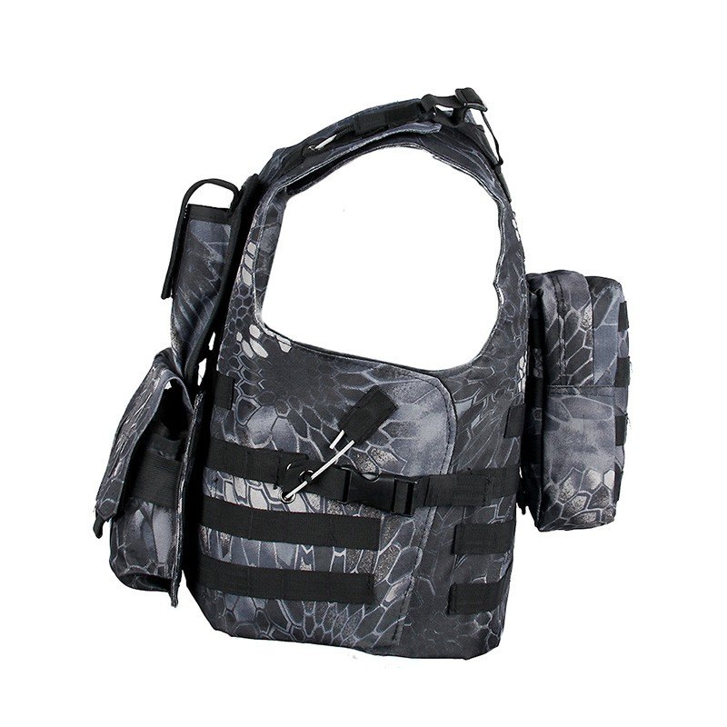 High quality durable army combat gear reflecting safety vest with pouches airsoft