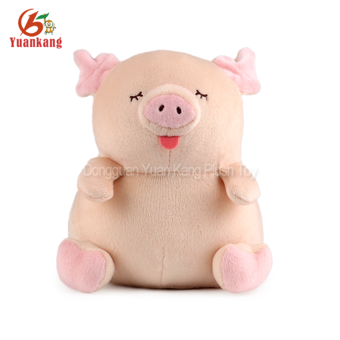 wholesale 9 inch girls gift Tongue Out cute pink baby pig stuffed plush toy