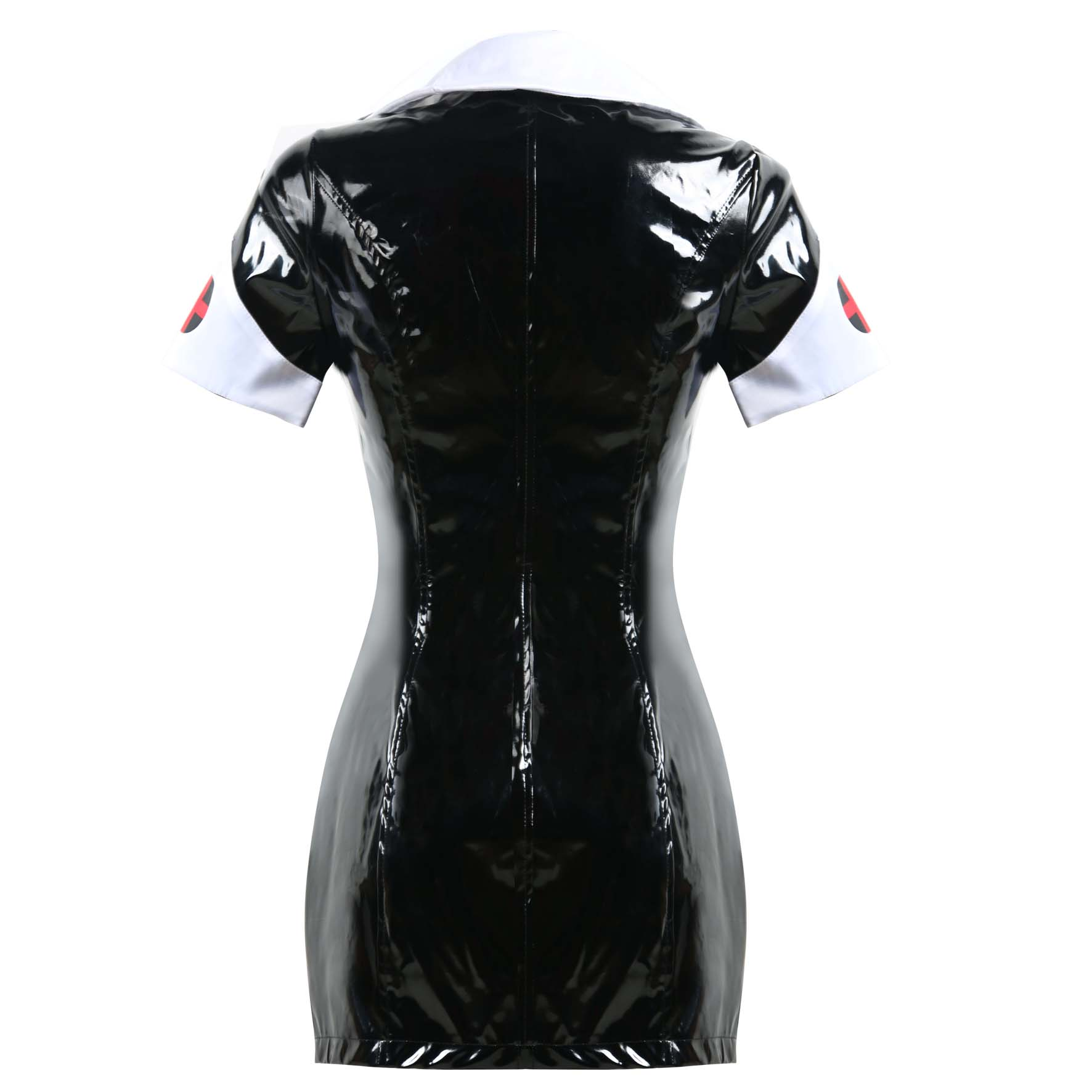 2019 new arrivals mature women sexy leather lingerie nurse pvc costume dress