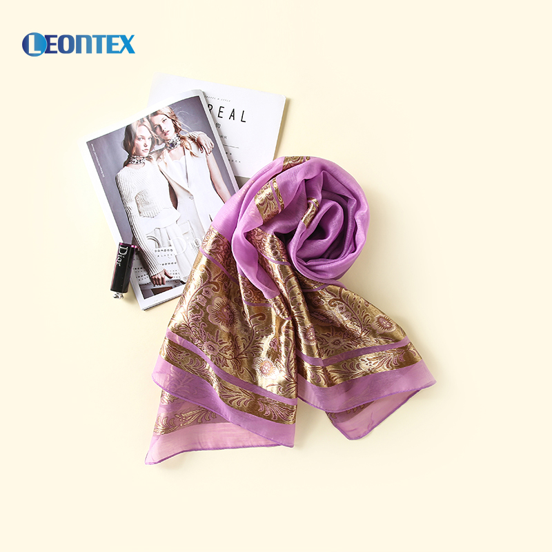 2020 popular luxury floral gold glitter muslim hijab shiny embroidered scarf