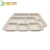 Chinese Supplier Hotsale Lunch Disposable 5 Compartments Wheat Straw Food Tray