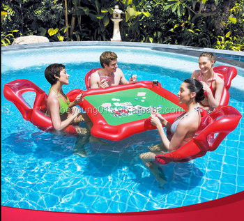 Funny Games Lounges/ Folding Texas Holdu0027em Inflatable Pool Poker Table With  4 Floating