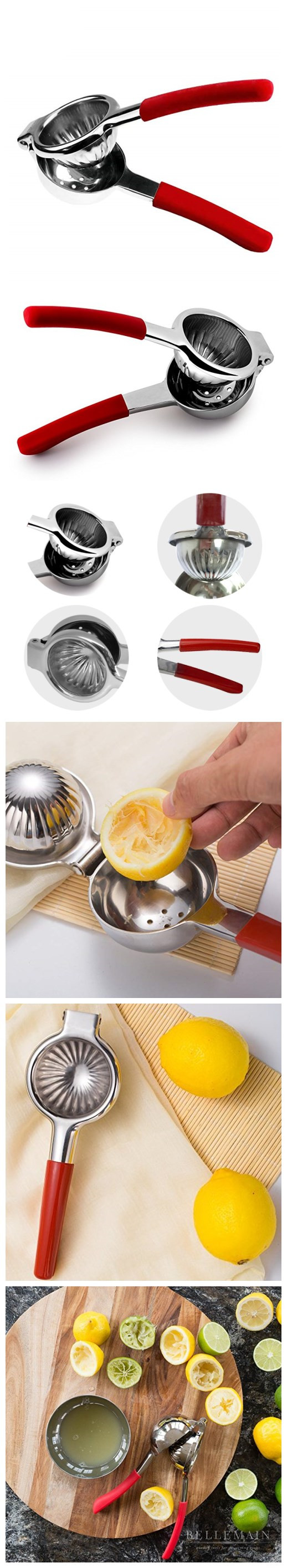 High Quality Stainless Steel Lemon Squeezer with Silicone Handle Lemon Squeezer for Bar