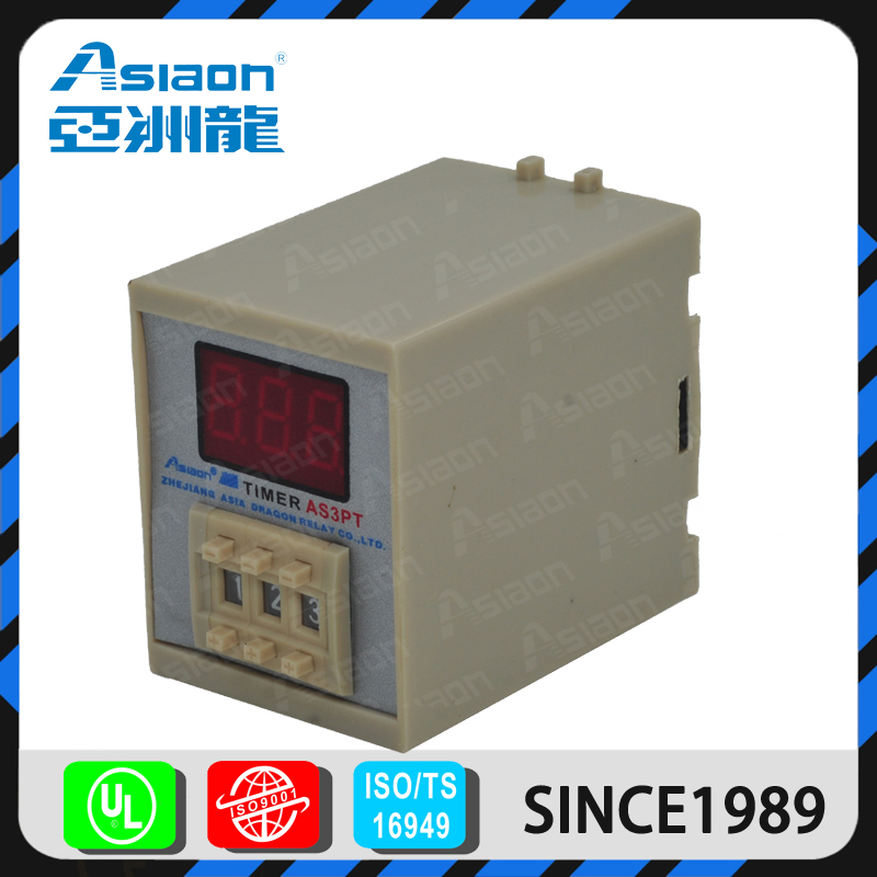 ASIAON 12V Timer Switch 8pins 3A AC 12V 24V Time Relays Wholesale Price