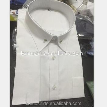 cf52f821e40 Men's Eyelet Pin Collar Dress Shirt White Shirts