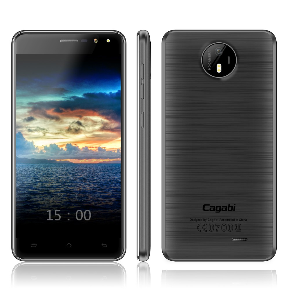 Cagabi ONE 5inch MTK6580A Quad Core, 1G+8G, 5MP+8MP, Dual SIM low price china mobile phone Standby