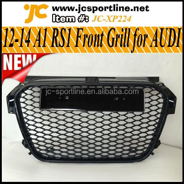12 14 a1 rs1 frontgrill f r audi a1 gitter schwarz mesh. Black Bedroom Furniture Sets. Home Design Ideas