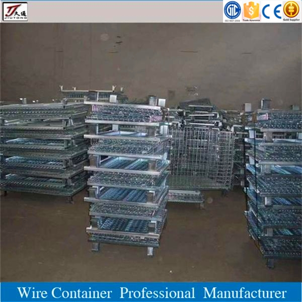 Wire mesh metal steel cage pallet for sale