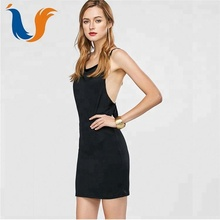 Backless sexy black party ladies night dress