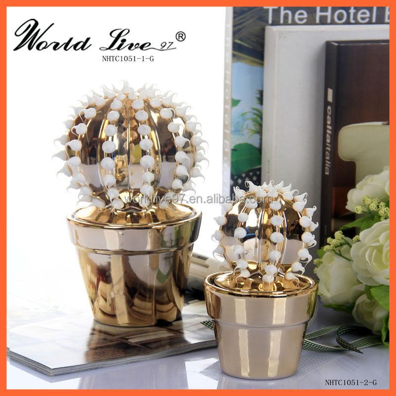 Guangzhou cer mica en olla cactus para la decoraci n for Productos para ceramica