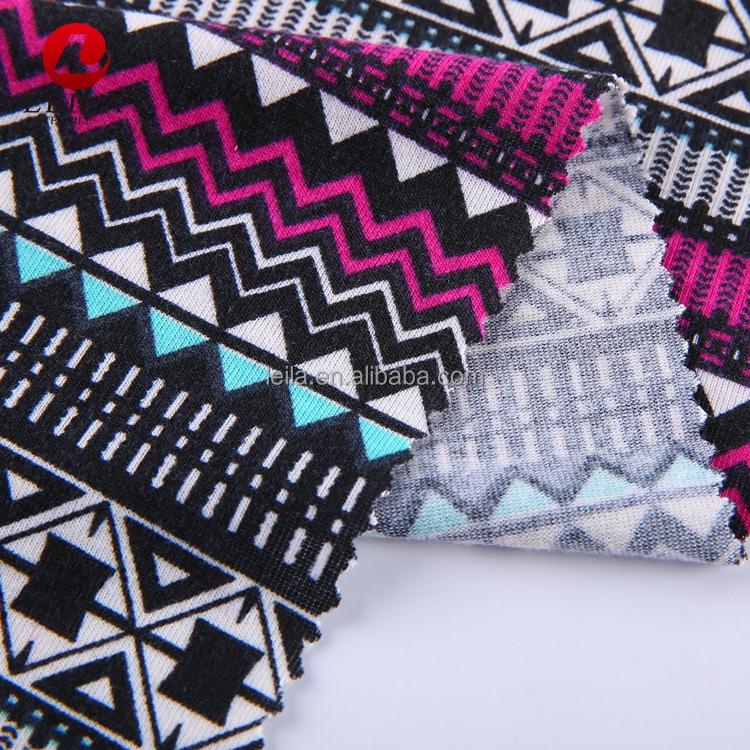 New design hot sale custom printed stretch jersey fabric