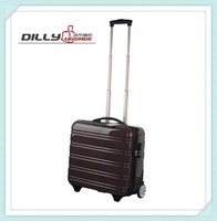 rolling laptop luggage shockproof extruded aluminum case
