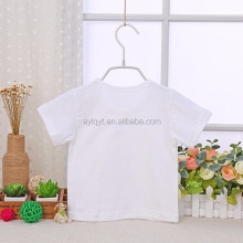 TX-MS-002 t shirt factory wholesale 100% cotton blank toddler baby t shirts