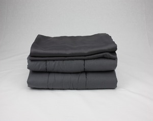 Weighted Blanket Factory Bamboo Grey Weighted Blanket Set 15 lbs for Adults