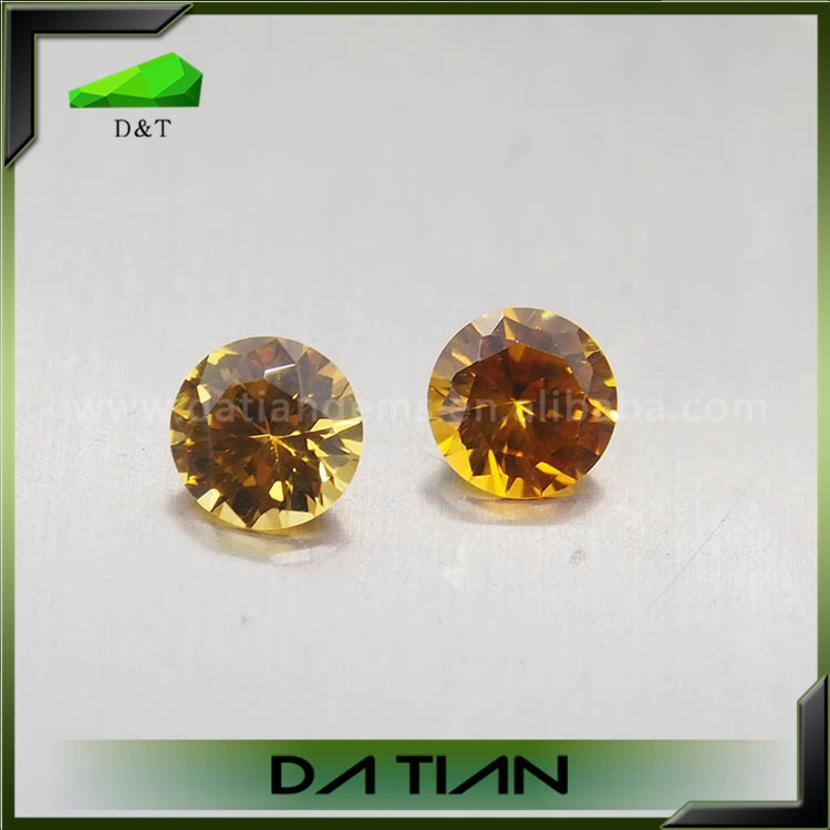 High quality diamond cut 22# color synthetic yellow sapphire price