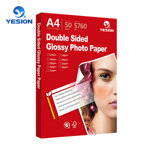 2018 china manufacturer best quality professional glossy photo paper double sided in china
