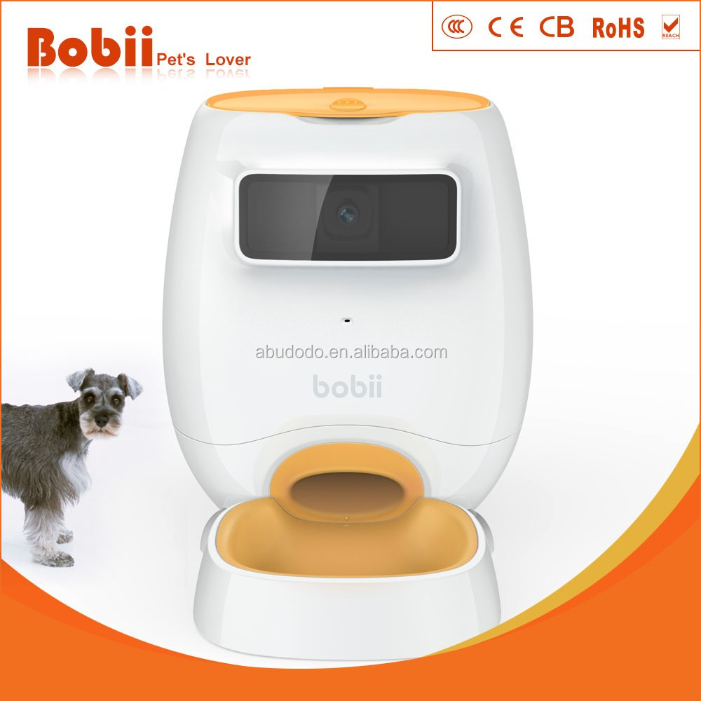 automatic pet feeder with camera IOS android app control via mobilephone