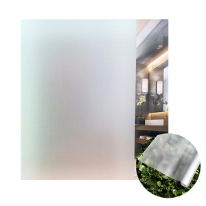 frosted static cling decorative window film transparent window glass films for office/home decoration