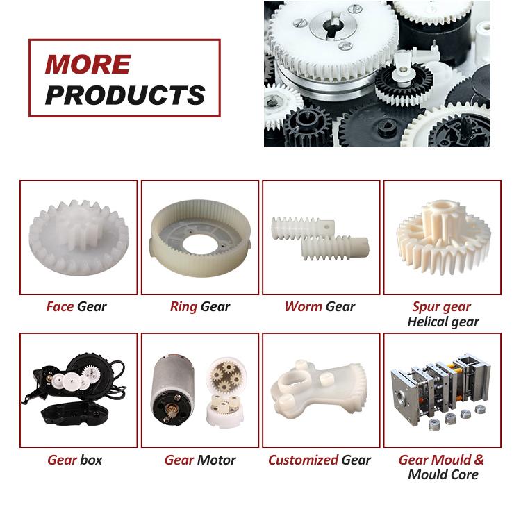 ISO certificato di fabbrica PA PC ABS POM PBT DERLIN di ingegneria ingranaggio di plastica trasparente di plastica gear