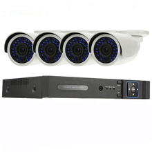 低コストの Hd CCTV キット 1080 1080p フル HD P2P AHD DVR 4CH 24 IR LED