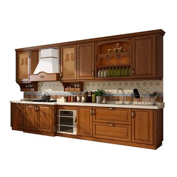 European Standard Quartz Stone Countertop Luxury Solid Wood Kitchen