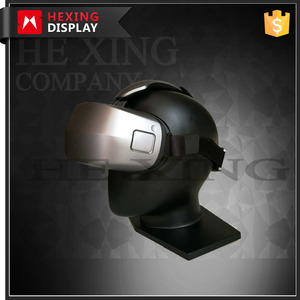 Wholesale black mannequin head,fiberglass male manequins heads for VR display