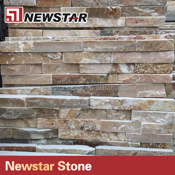 Natural slate pencil panel stone,ledgestone cladding panel