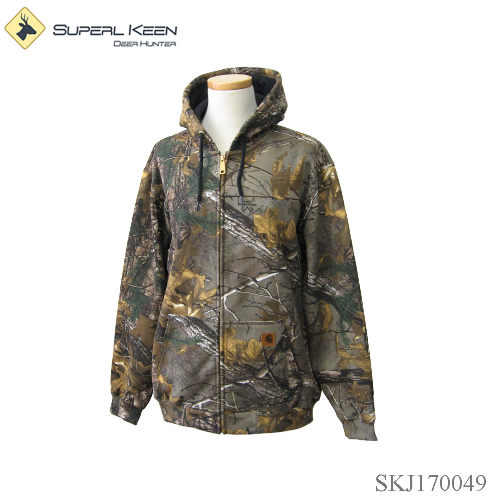 Men's hunting camo windproof hooded Jacket