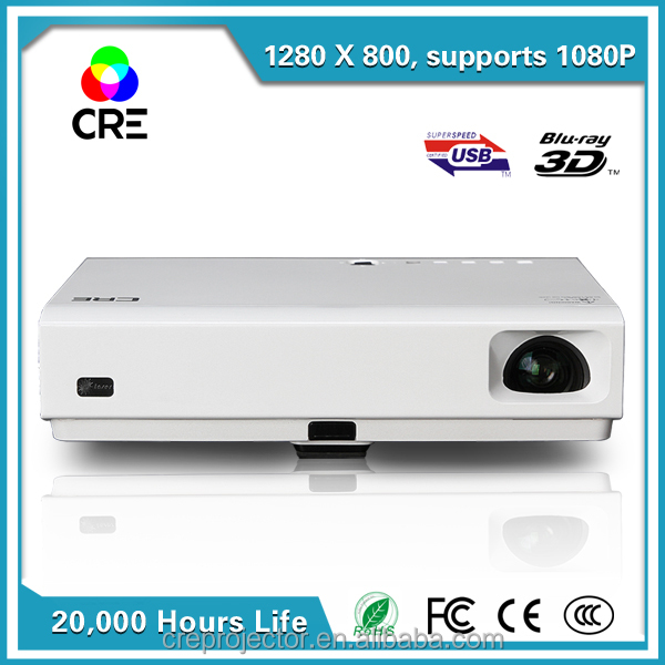 Home Cinema Ultra Short Throw TV 3D Projector DLP 1280*800 Laser mini LED