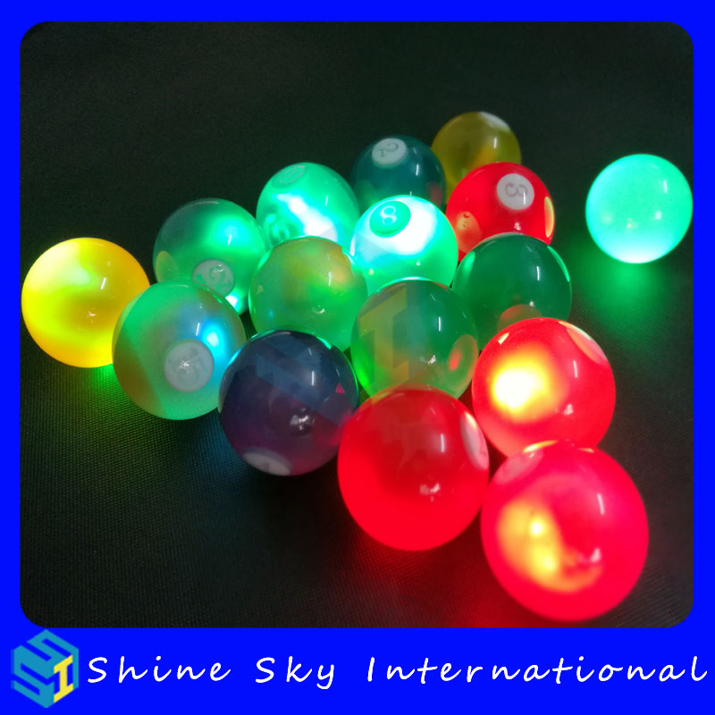 Crystal Design Standard 8 Pool Billiards Led Billiard Balls For Club/Disco/Gifts