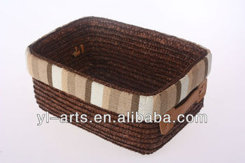 Promotional Straw Rectangular Woven Storage Baskets