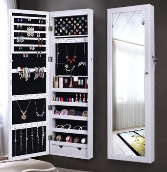 In Wall Jewelry Box Wall Mount Case Cabinet Recessed