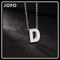 New Letter Necklace With Capital A B C D E S M Pendant Made Of 316L Stainless Steel SCC0076