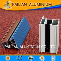 Thermal break aluminium double glass window,aluminium doors and window section,powder coating aluminium window frame