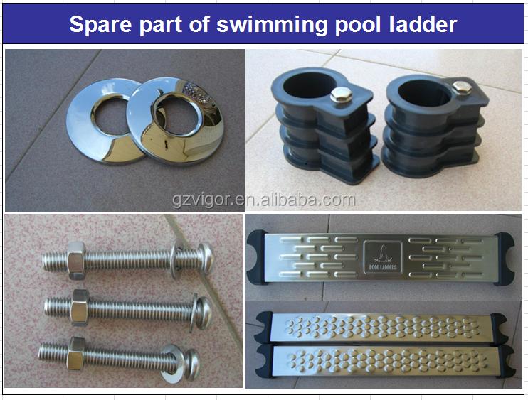 Groothandel prijs zwembad twee stap ladder onderdelen met handvat