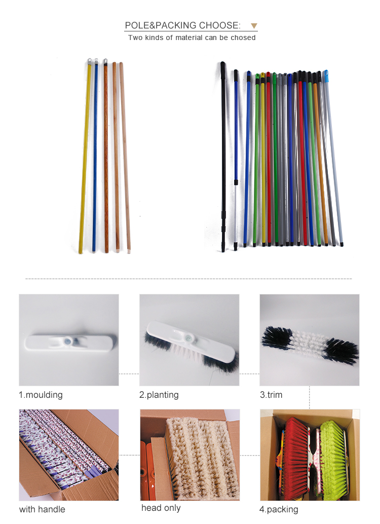 2207 Outdoor Colorful Plastic Broom Hand Mini Angle Broom For Italian Market